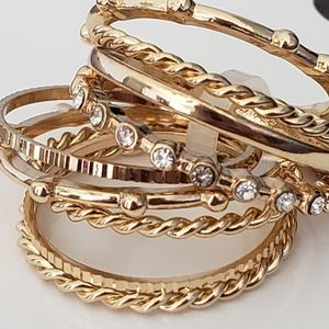 New Gold OR Silver Stacking Rings